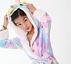 Халат детский единорог кигуруми фиолетовый для девочки 120 см, фото 5