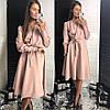 Женское платье классика с поясом в расцветках. ЛД-14-0119, фото 4