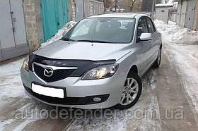 Дефлектор капота (мухобойка) Mazda 3 2003-2009 hatchback, Vip Tuning, MZD01