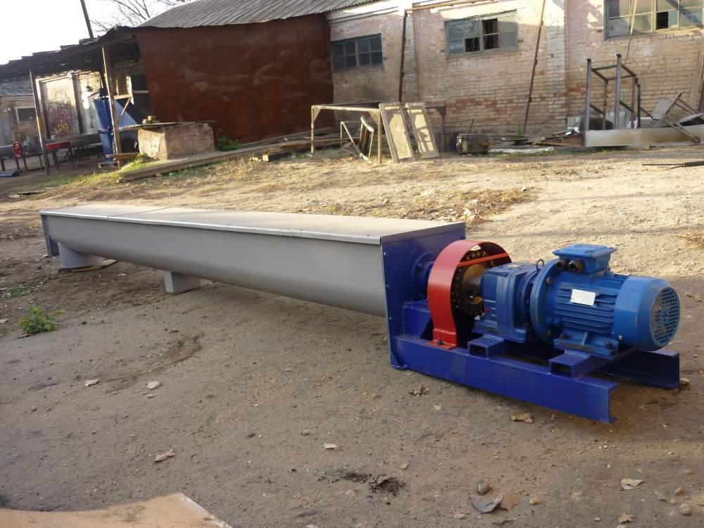 Шнек в лотке Ø 300 ММ длиной 6000 мм