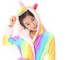 Халат детский единорог кигуруми радужный для девочки 140 см, фото 3