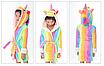 Халат детский единорог кигуруми радужный для девочки 140 см, фото 2