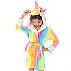 Халат детский единорог кигуруми радужный для девочки 140 см, фото 4