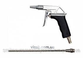 """Пістолет пневматичний для продувки з подовжувачем YATO, на кв. 1/4"""", 0,8MPa [20/40]"""