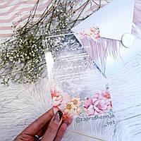 Прозрачные пригласительные на свадьбу 096