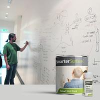 Краска маркерная белая Smarter Surfaces 6м2
