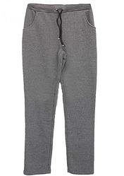 Теплі спортивні штани на байку великих розмірів жіночі зимові прямі сірі