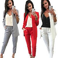 Классический женский брючный костюм пиджак и брюки sh-003 (42-52р, разные цвета)