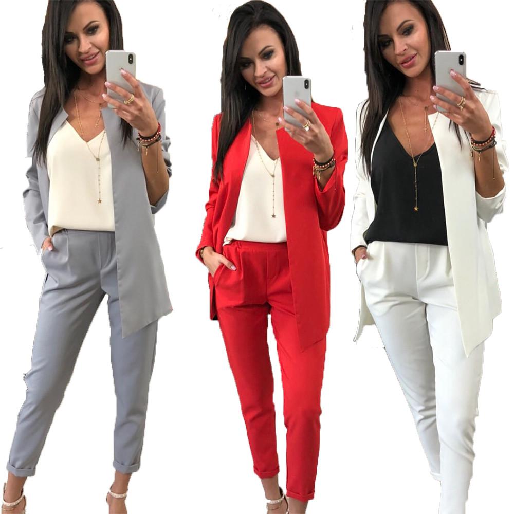 ea87d1ef1eb Классический женский брючный костюм пиджак и брюки sh-003 (разные цвета