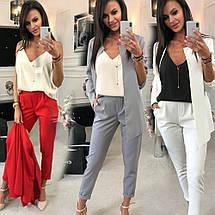 Классический женский брючный костюм пиджак и брюки sh-003 (42-52р, разные цвета), фото 2