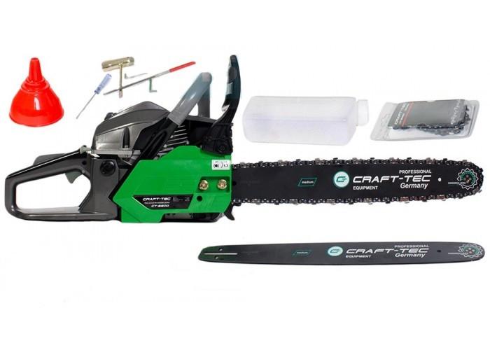 Бензопила Craft-tec СT-5600 (2 Шины + 2 Цепи)