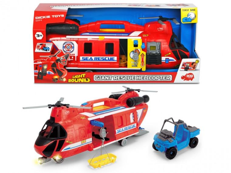 Уценка набор Dickie Toys Вертолет Спасение на море со световыми и звуковыми эффектами (3749016)