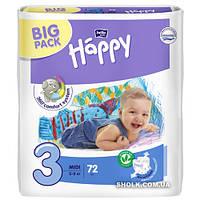 Подгузники детские Bella Baby Happy Green Tea Midi 5-9 кг 72 шт
