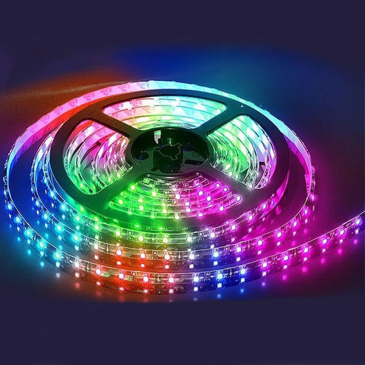 Светодиодная LED лента разноцветная 5м блок питания уличная гирлянда пятиметровая с блоком питания