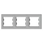Рамка трехпостовая горизонтальная Schneider Electric Asfora Алюминий