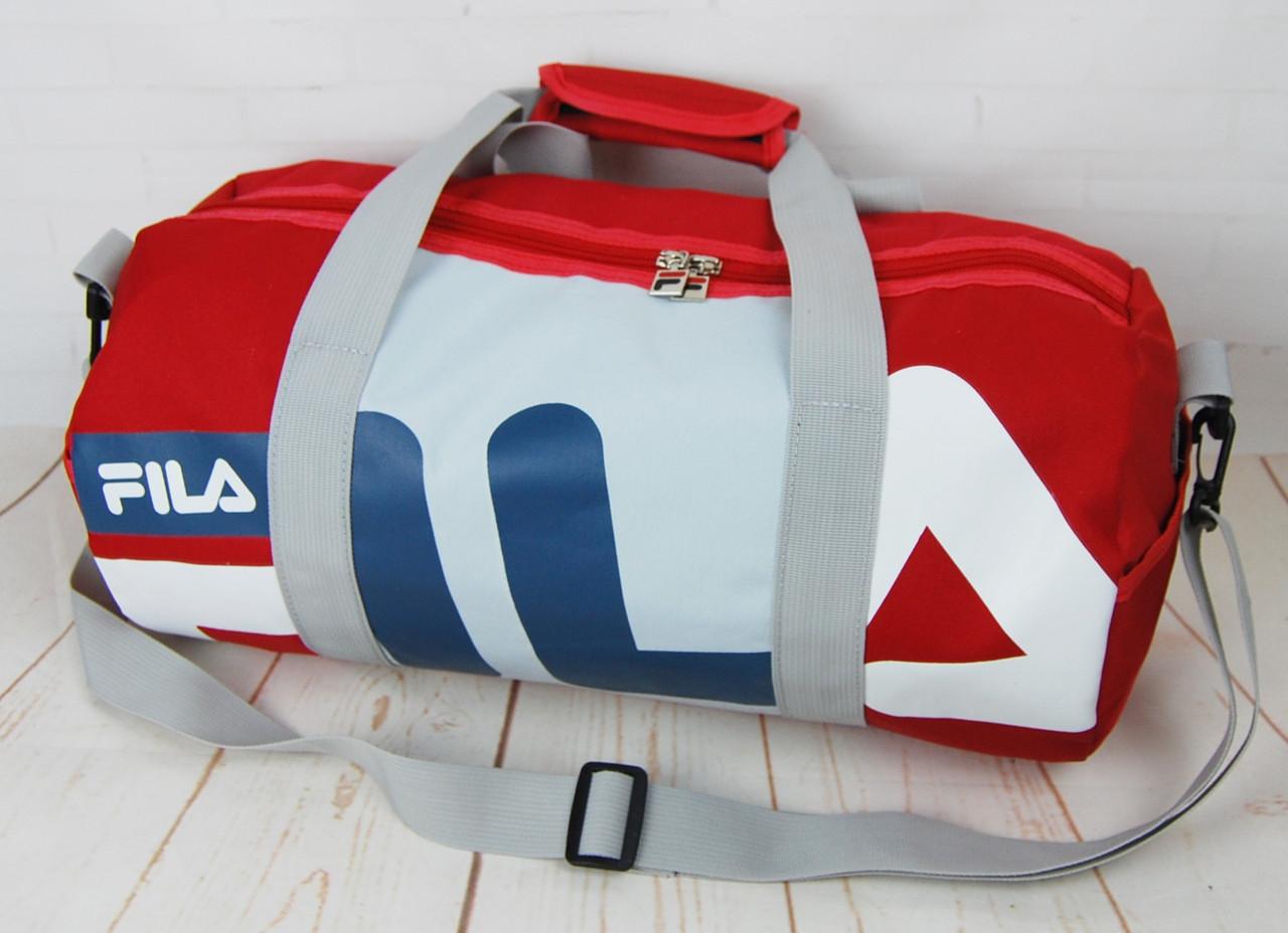 88d057af039c Небольшая красивая спортивная сумка бочонок Fila. Размер 44см на 23 КСС12-1