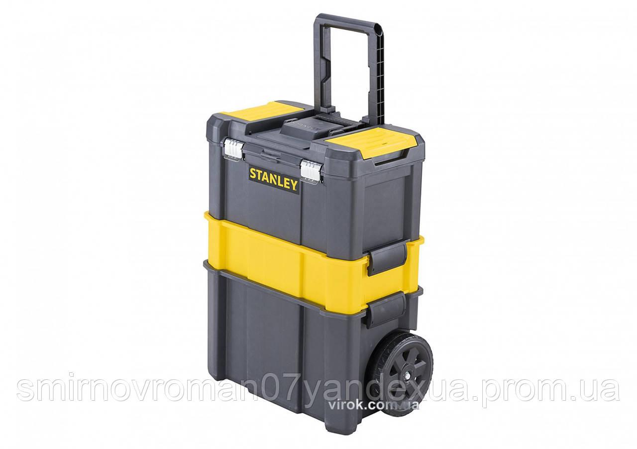 Ящик розкладний 3 в 1 для інструментів STANLEY на 2-х колесах 476 х 208 х 630 мм