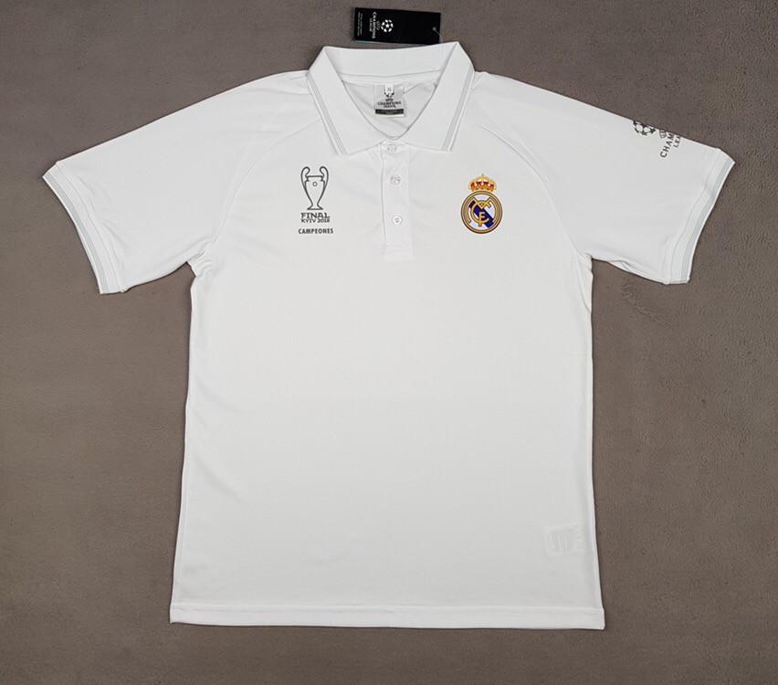 Футболка поло Реал Мадрид (cезон 2018-2019) белая