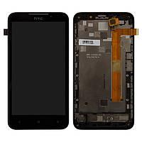 Дисплей для HTC Desire 516 Dual Sim, модуль в сборе (экран и сенсор), с рамкой, черный, оригинал