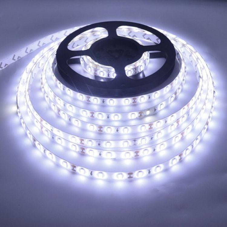 Светодиодная LED лента 5653 белая 5 метров блок питания защита от влаги пятиметровая ЛЕД 5м с блоком питания