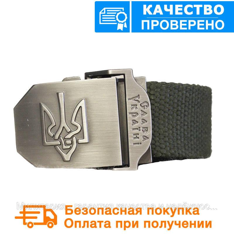 Тактический брючной ремень Слава Украине с пряжкой tactical olive (slava-olive)