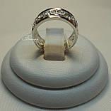 Обручальное кольцо из серебра с накладками золота без камней, фото 7