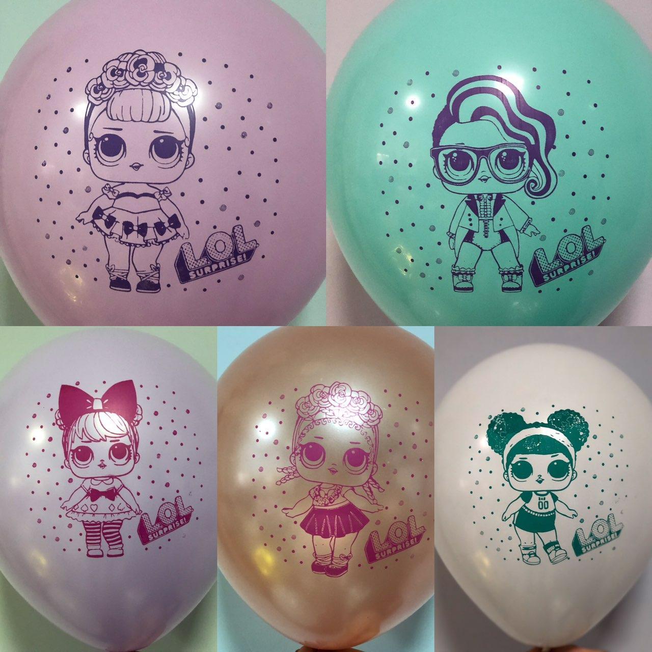 """Воздушные шары """"Куклы L.O0L"""" цветная печать В упак: 100шт"""