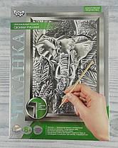 Гравюра Чеканка Слон/Динозавр ЧК-02-06 Danko-Toys Украина