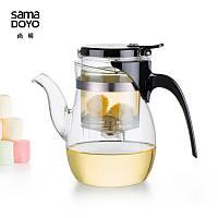Чайник заварочный с кнопкой Samadoyo B-06, 600 мл, фото 1