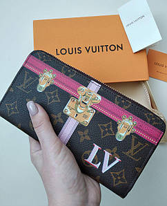 Кошелек Louis Vuitton, кожа, на молнии