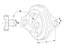 Вилка подвійна ширококутна 2580 L118 D180 W., фото 2