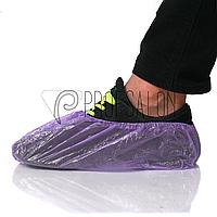 Бахилы, одноразовые, медицинские 3гр 100 шт/ 50 пар, из полиэтилена, Фиолетовые
