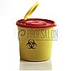 Лоток - Контейнер для медотходов, ёмкость 1,5 л, желтый с красной крышкой