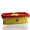 Лоток - Контейнер для медотходов, ймкость 3 л, желтый с красной крышкой