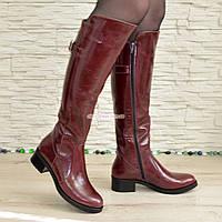 Сапоги женские зимние кожаные на невысоком устойчивом каблуке 47219b0e1c163