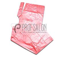 Пеньюар парикмахерский 0,9х1,6м, полиэтилен, 100 шт, розовые