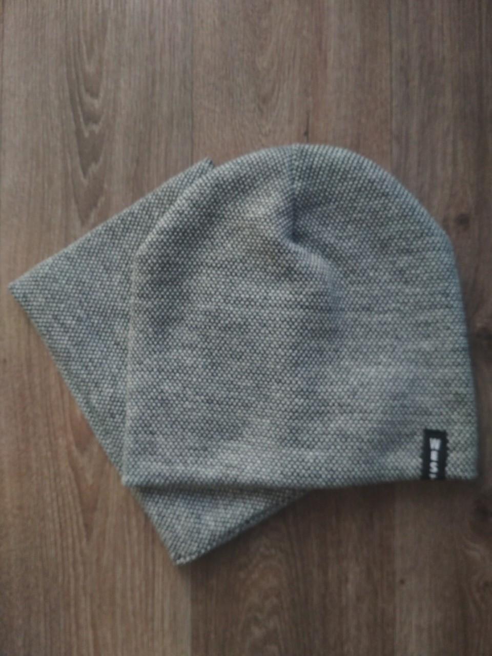 Комплект шапка и горловик West серый