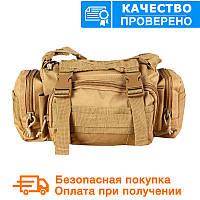 Тактическая универсальная (поясная, наплечная) сумка Silver Knight с системой M.O.L.L.E Coyote (105-coyote), фото 1