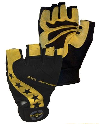Перчатки Scitec Nutrition Power Style Gel Performer размер M black/yellow