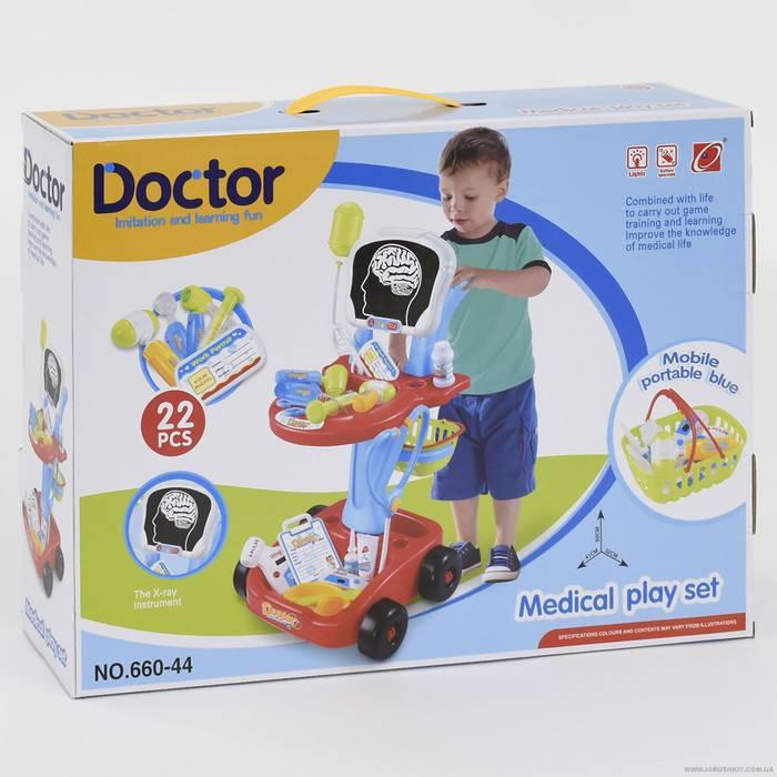 Набор доктора в тележке 660-44 Рентген, со световыми и звуковыми эффектами