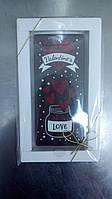 "Шоколадная открытка ""Valentine*sШ-5 Размер:145х65мм,h=5мм,вес 90гр классическое сырье"