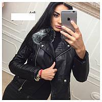 Куртка женская на меху укороченная, фото 1