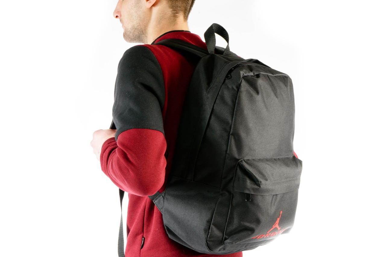 Молодежный черный рюкзак Jordan   14 л, фото 2
