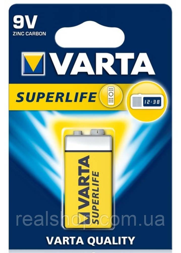 Батарейка Крона Varta SUPERLIFE 6F22 9V
