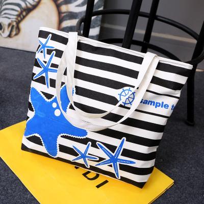 Эко-сумка полосатая со звездами