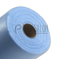 Одноразовые простыни в рулонах 0,6х500 метров 20 г/м2, медицинские, для салонов красоты, голубые