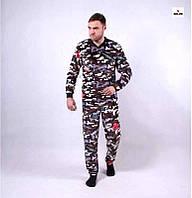 Мужская махровая пижама теплая 44-54 р.