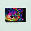 Картхолдер 699 Разноцветный волк (эко-кожа)