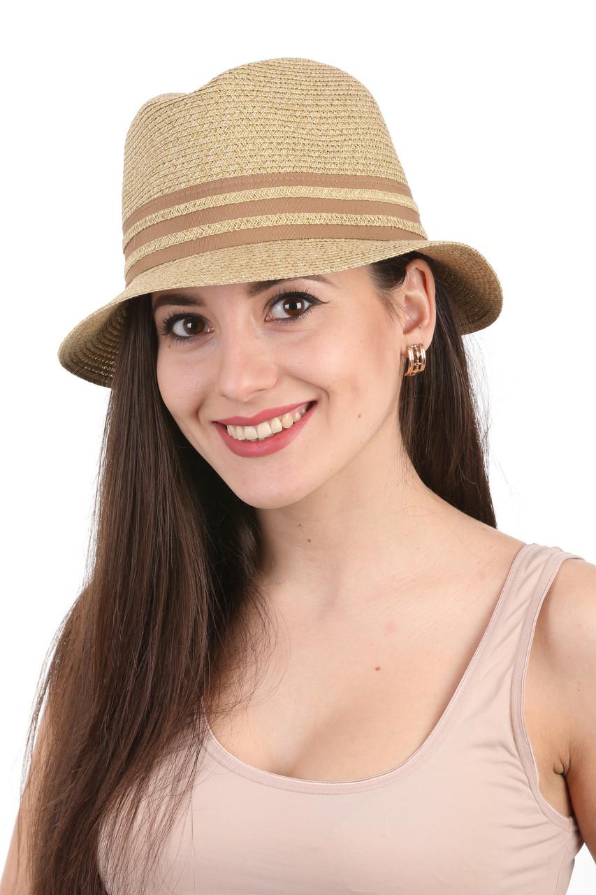 "Шляпа ""трилби"" летняя"