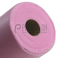Одноразовые простыни в рулонах 0,8х500 метров 20 г/м2, медицинские, для салонов красоты, розовые